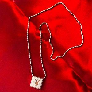 Silver chain necklace - Playboy Bunny